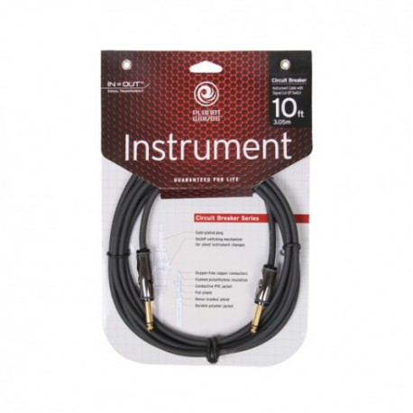 D'Addario PW Cicuit Braker Cable 10ft Straight