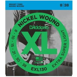 EXL130 Nickel Wound, Extra-Super Light, 8-38