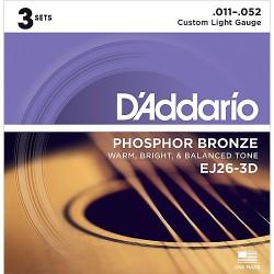 EJ26 Phosphor Bronze, Custom Light, 11-52