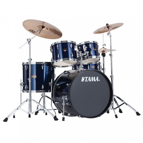 "TAMA IP52KH6-MNB - KIT IMPERIALSTAR POWER STANDARD 22 5 SHELLS WITH HARDWARE - MIDNIGHT BLUE Drumsets Fusion 22"" drumkit"